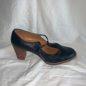 Aerosoles Size 8M Blue Vintage Heels - Leather